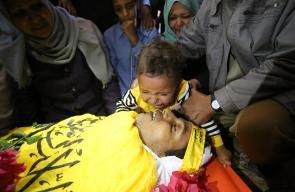 وداع الشهيد يحيى الحسنات وسط قطاع غزة