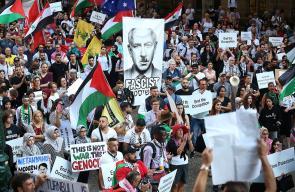 تظاهرة في استراليا رافضة لزيارة بنيامين نتنياهو رئيس حكومة الاحتلال