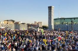 مسيرة حاشدة بطهران دعما لشعبنا والحرس الثوري يؤكد دعمه للمقاومة الفلسطينية