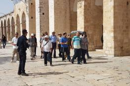 129 Israeli settlers, police officers defile al-Aqsa Mosque
