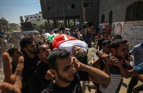 تشييع حاشد لجثمان الشهيد عماد اشتيوي بمدينة غزة