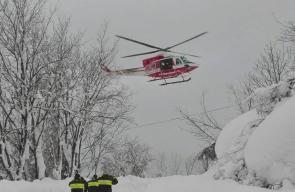 انهيار جليدي يخلّف 30 قتيلاً في أحد فنادق في إيطاليا