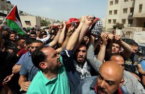 تشييع جثمان الشهيد أحمد غزال في نابلس