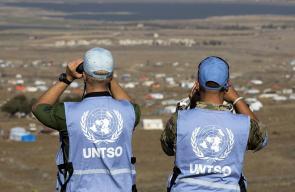 قوات اليونيفيل التابعة للأمم المتحدة تراقب مخيمات النازحين السوريين