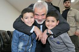 وفد من حماس برئاسة هنية يلتقي جرحى غزة في تركيا