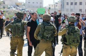 قوات الاحتلال تقمع الوقفة الاحتجاجية على مدخل خربة قلقس جنوب مدينة الخليل