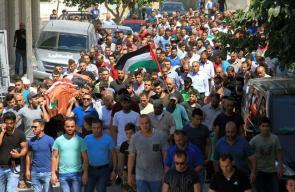 تشييع جثمان الشهيد عمر عيسى في بيت لحم