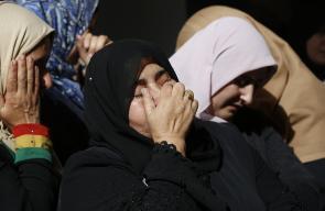تشييع جثمان الشهيد معتز بني شمسة في بلدة بيتا بنابلس