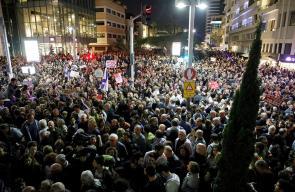 آلاف الإسرائيليون يتظاهرون للمطالبة بتسريع التحقيقات مع نتنياهو