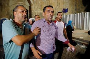 اعتداء قوات الاحتلال على المصلين والمرابطين عند باب الأسباط بالمسجد الأقصى المبارك