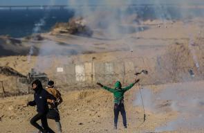 إصابات بقمع الاحتلال للمتظاهرين في الحراك البحري