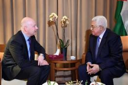 """""""وُصف بالإيجابي"""" ..عباس يلتقي مع مبعوث ترامب للسلام وهذا ما ناقشوه"""
