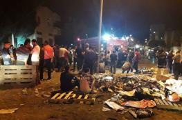 إصابة 52 مواطن في حريق لمستودعات تجارية بنابلس