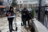 زراعة أشجار في الخليل دعما للأسرى الأطفال في سجون الاحتلال