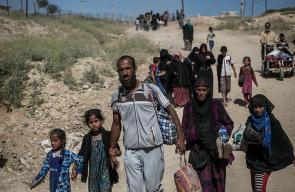 موجة النزوح من الموصل تتواصل مع استمرار المعارك
