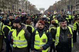 """""""السترات الصفراء"""" تعود لشوارع باريس من جديد"""