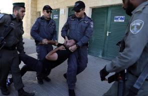 اعتداء الاحتلال على المتظاهرين أمام مبنى السفارة الأمريكية الجديد في القدس