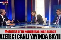 إعلامي تركي يفقد الوعي على الهواء مباشرة