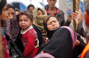 استمرار معاناة العائلات النازحة من الموصل العراقية جراء المعارك بين تنظيم الدولة