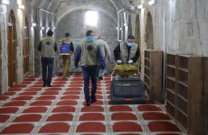 استعدادات بالمسجد الأقصى لاستقبال المصلين يوم الأحد المقبل