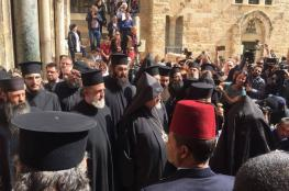 "VIDEO : Closure of ""Church of the Holy Sepulchre"" in protest against the measures of the occupation"