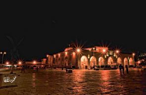 ساحات المسجد الأقصى مساء اليوم.