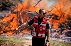 الاحتلال يجري تدريبات على كيفية التعامل مع الحرائق في غلاغ غزة