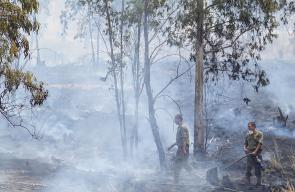 الحرائق المندلعة في مستوطنات غلاف غزة