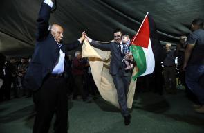 الأسير المحرر محمود البلبول يعقد قرانه في قرية الخان الأحمر
