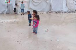 الأمطار تكشف حجم مأساة المهجرين الفلسطينيين في مخيم دير بلوط