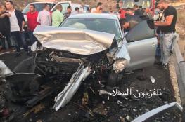 وفاة مواطنة واصابة 8 في حادث سير قرب نابلس