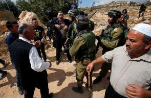 قوات الاحتلال تقمع مسيرة سلمية في قرية قلقس شرق مدينة الخليل