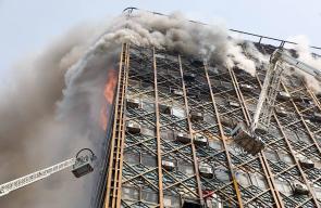 مقتل العشرات من رجال الإطفار بانهيار برج في طهران