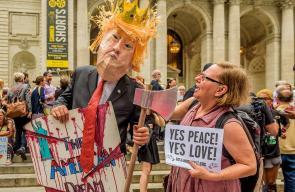 تظاهرات في نيويورك ضد العنصرية وترفض تصعيد ترامب الخارجي