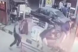 انفجار دراجة نارية أثناء تزودها بالوقود شمالي إيران