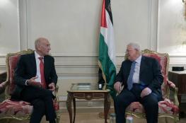 أولمرت عقب لقاء عباس: رجل سياسي عظيم ويحارب الإرهاب لأنه ملتزم بالسلام