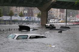 أمطار غزيرة تغرق شوارع إسطنبول