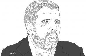 الأمين العام لحركة الجهاد الإسلامي د. رمضان شلح - بريشة علاء اللقطة