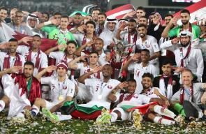 احتفالات تتويج المنتخب العنابي في بطولة كأس آسيا