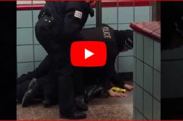 شاهد ضابطان أمريكيان يطلقان النار على رجل