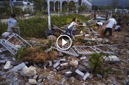 """شاهد: إعصار """"مانكوت"""" يضرب الصين ورياحه تجرف البشر والحجر"""