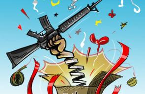 عملية سلفيت - كاريكاتير بهاء ياسين