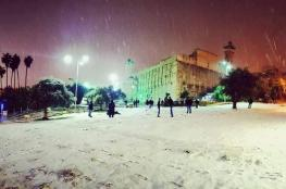 طقس فلسطين: المنخفض الجوي يتعمق وثلوج فوق المرتفعات
