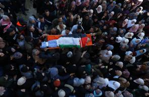 وداع وتشييع جثمان الشهيد يزن منذر أبو طبيخ بمخيم جنين