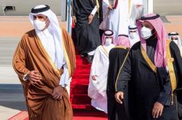 عناق حار بين أمير قطر ومحمد بن سلمان لأول مرة منذ 3 سنوات ونصف