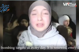 VIDEO : A Syrian girl from the Eastern #Ghouta , she appeals the world
