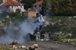 إصابة 6 مواطنين برصاص الاحتلال والعشرات بالاختناق خلال مسيرة كفر قدوم