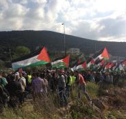 الفلسطينيون يحيون ذكرى _يوم الأرض_ الـ41%0A
