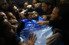 جثمان الزميل الصحفي الشهيد أحمد أبو حسين يصل إلى غزة