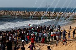 شهيد وعشرات الاصابات جراء اعتداء الاحتلال على المسير البحري التاسع شمال غزة